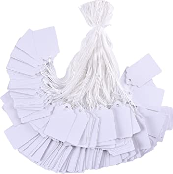 1000pcs String Price Jewelry Clothing Sale Label String Writable Blank Tag