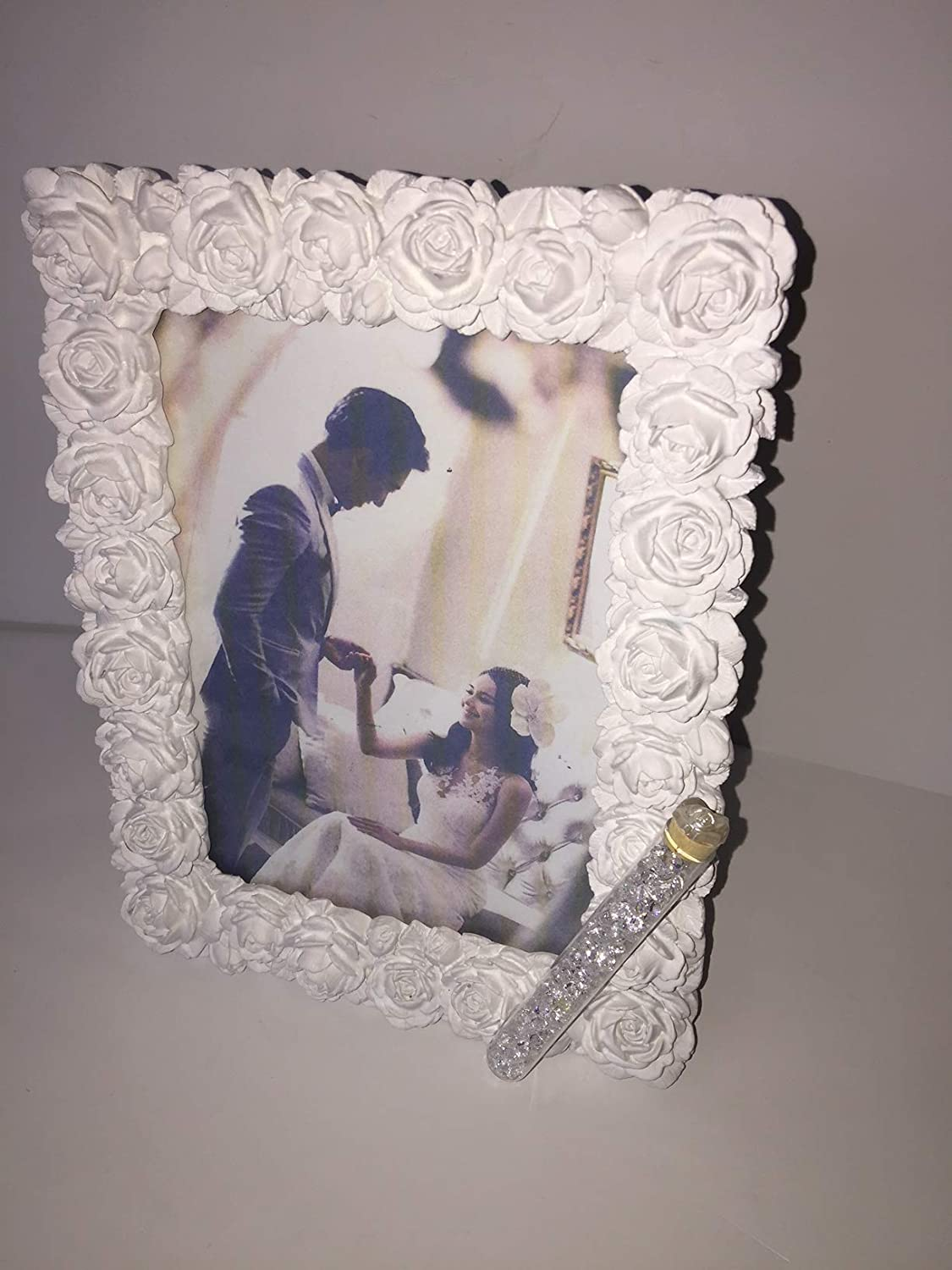 Amazoncom Jewish Wedding White Roses Photo Picture Frame With A