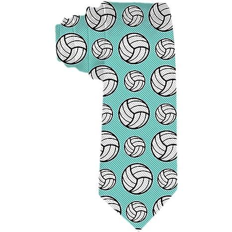 Patrón de deporte de voleibol para hombre Corbatas de menta verde ...