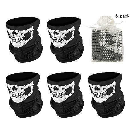 Universal Tubo de miedo sin soldadura máscara de calavera, A prueba de polvo a prueba