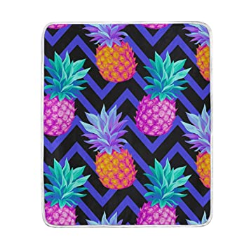 Fabulous Amazon Com Xmcl Zig Zag Pineapple Pattern Warm Throw Pdpeps Interior Chair Design Pdpepsorg