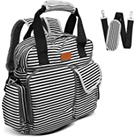 Sable Tote Diaper Bag with Backpack, Multifunction Bag, Oxford Fabric and Cotton Interlayer,Insulated Pockets,Stylish Nappy Changing Bag for Expectant Mom