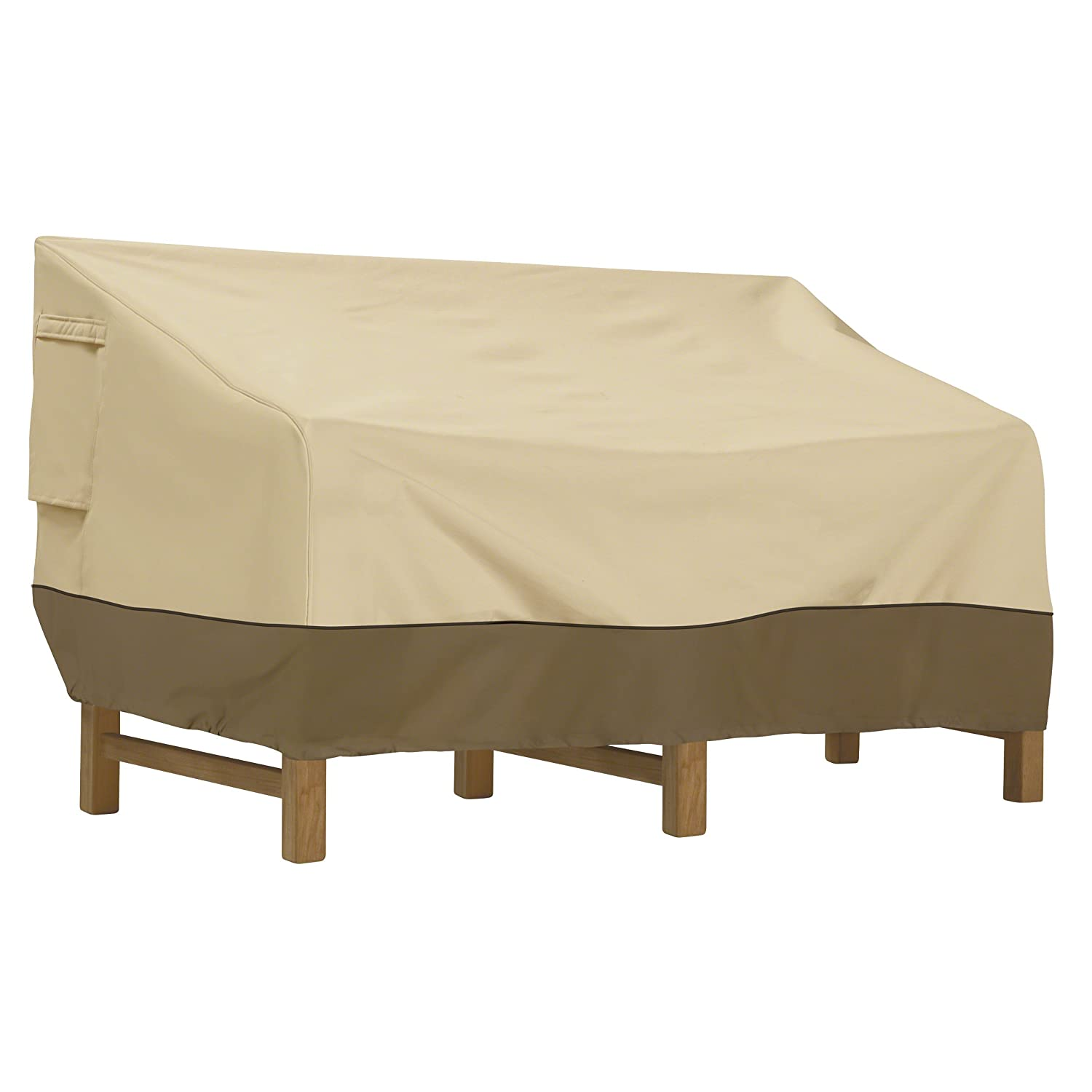 Classic Accessories 55-413-031501-00 Veranda Patio Deep Seat Sofa Cover, Medium, Pebble
