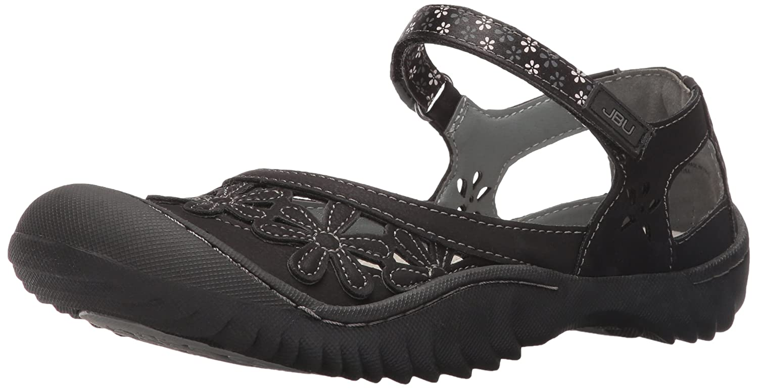 JBU by Jambu Women's Wildflower Too Mary Jane Flat B01ICPZJJQ 6.5 B(M) US|Black