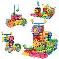 Blocchetti della costruzione dell'ingranaggio giocattolo educativo per 3 -7 anni bambini multi colori e forme puzzle 81 pezzi puzzle giocattoli sicuro non tossico resistente