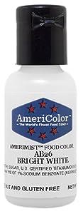 AmeriColor AmeriMist Bright White Airbrush Food Color, .65 oz