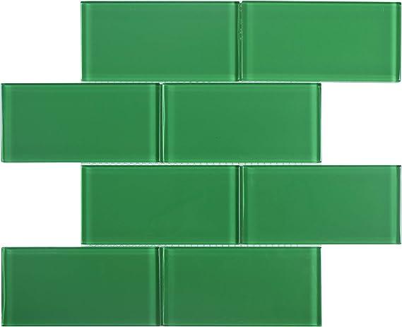 Color Sample, American Red WST-22C-SAMPLE Glass Subway Backsplash Tile Kolors Series for Kitchen and Bathroom by WS Tiles