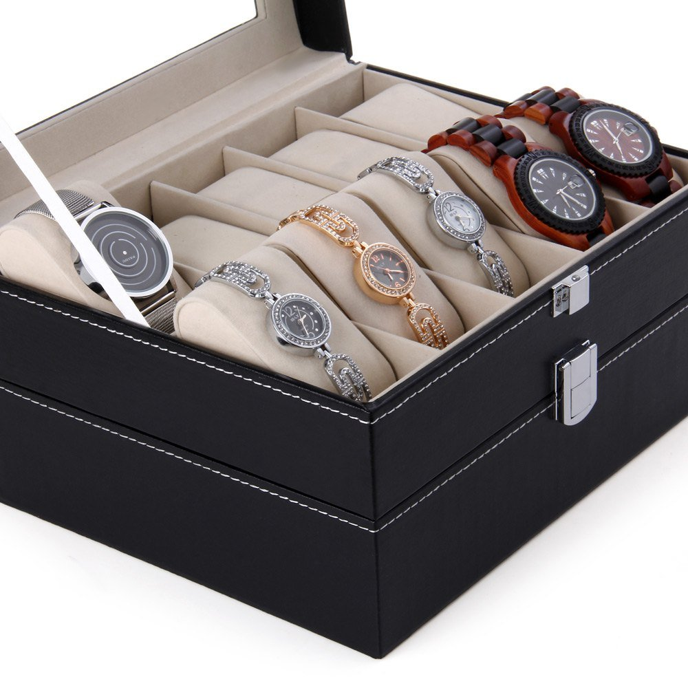 CXP 20 Grid Watch Storage box Window Leather a Variety of Jewelry gift Finishing box Practical by CXP (Image #5)