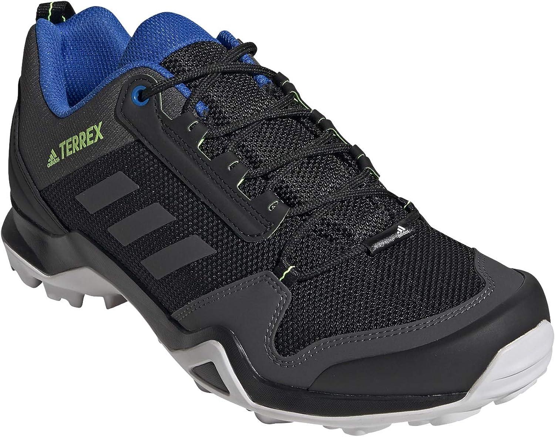 Adidas Herren Terrex Ax3 Leichtathletik-Schuh Kern Schwarz Dgh Fest Grau Signal Grün