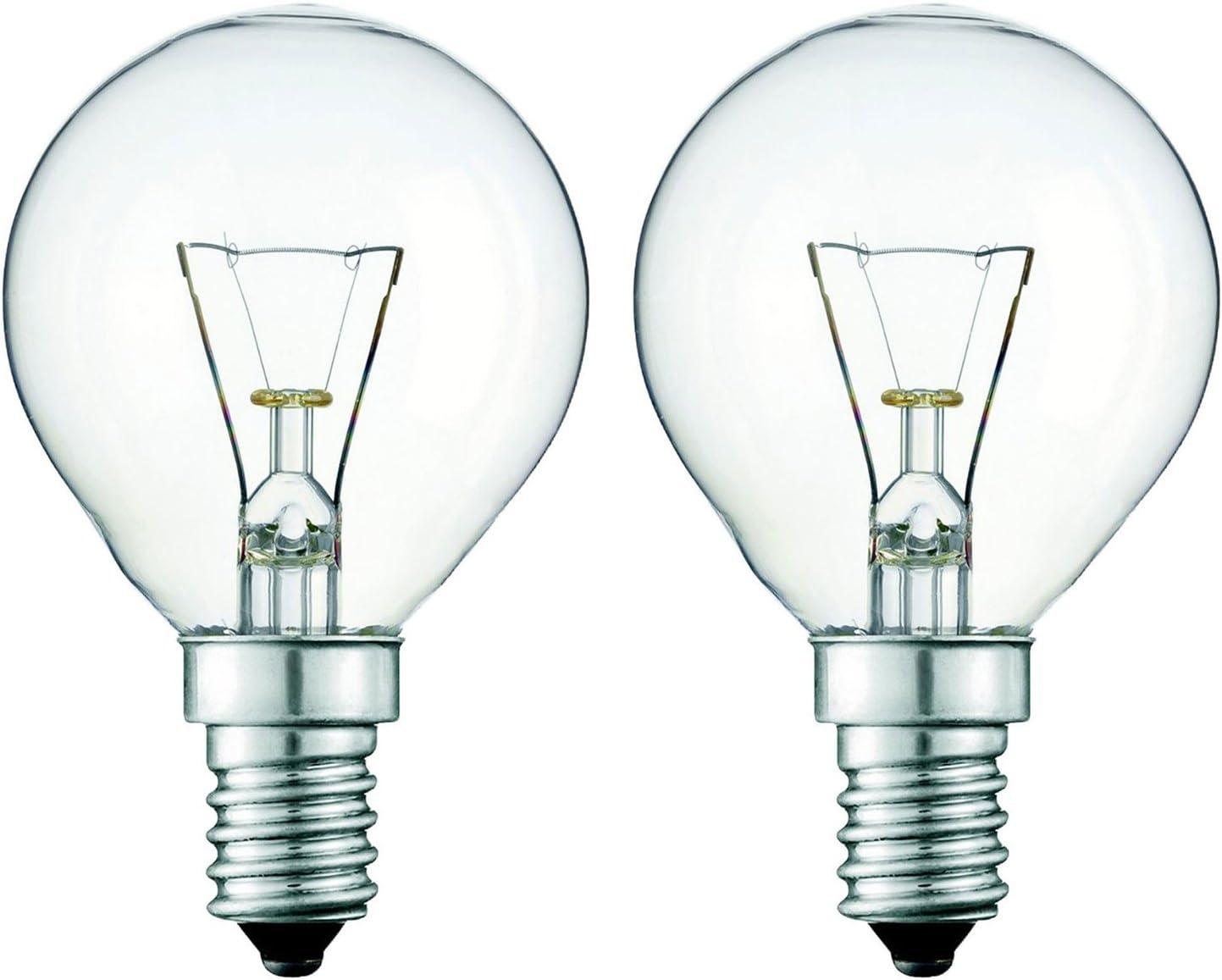 2 x Eveready 220-240V 25w 300°C Oven Kitchen Appliance Lamp SES E14 Bulb Pygmy