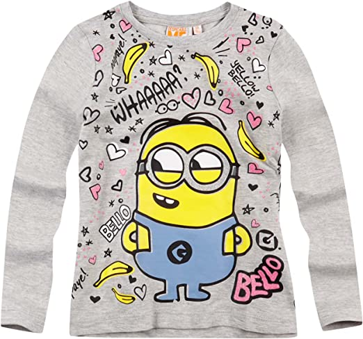 MINIONS Official Girls T-Shirt Long Sleeve Age 3//8 Years