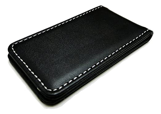 Fine Leather Magnetic Money Clip - Black At Amazon Men's Clothing ...