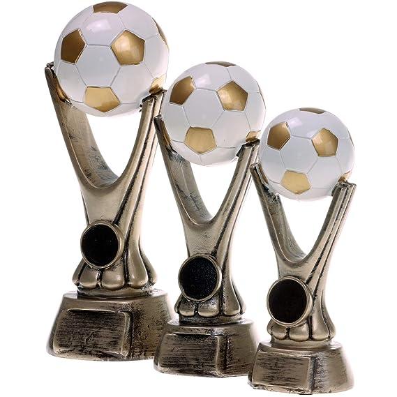 Pokal Fu/ßball Lyon Exclusiv aus Resin Silber//Gold handbemalt 26 28 oder 31 cm