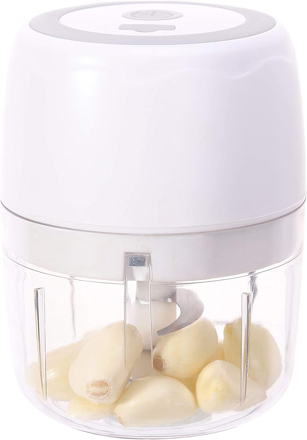 400ml Electric Garlic Chopper Masher, Small Food Slicer And Chopper, Portable Garlic Blender Mini Chopper Food Processor For Pepper Chili Vegetable Nuts Meat,Baby Food Maker 1.6cup