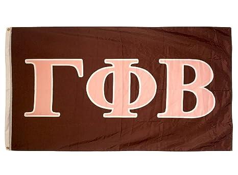 desert cactus gamma phi beta letter sorority flag greek letter use as a banner 3 x