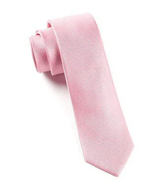 9c46eb6472dc Image Unavailable. Image not available for. Color: The Tie Bar 100% Silk  Skinny Baby Pink Textured Solid Tie