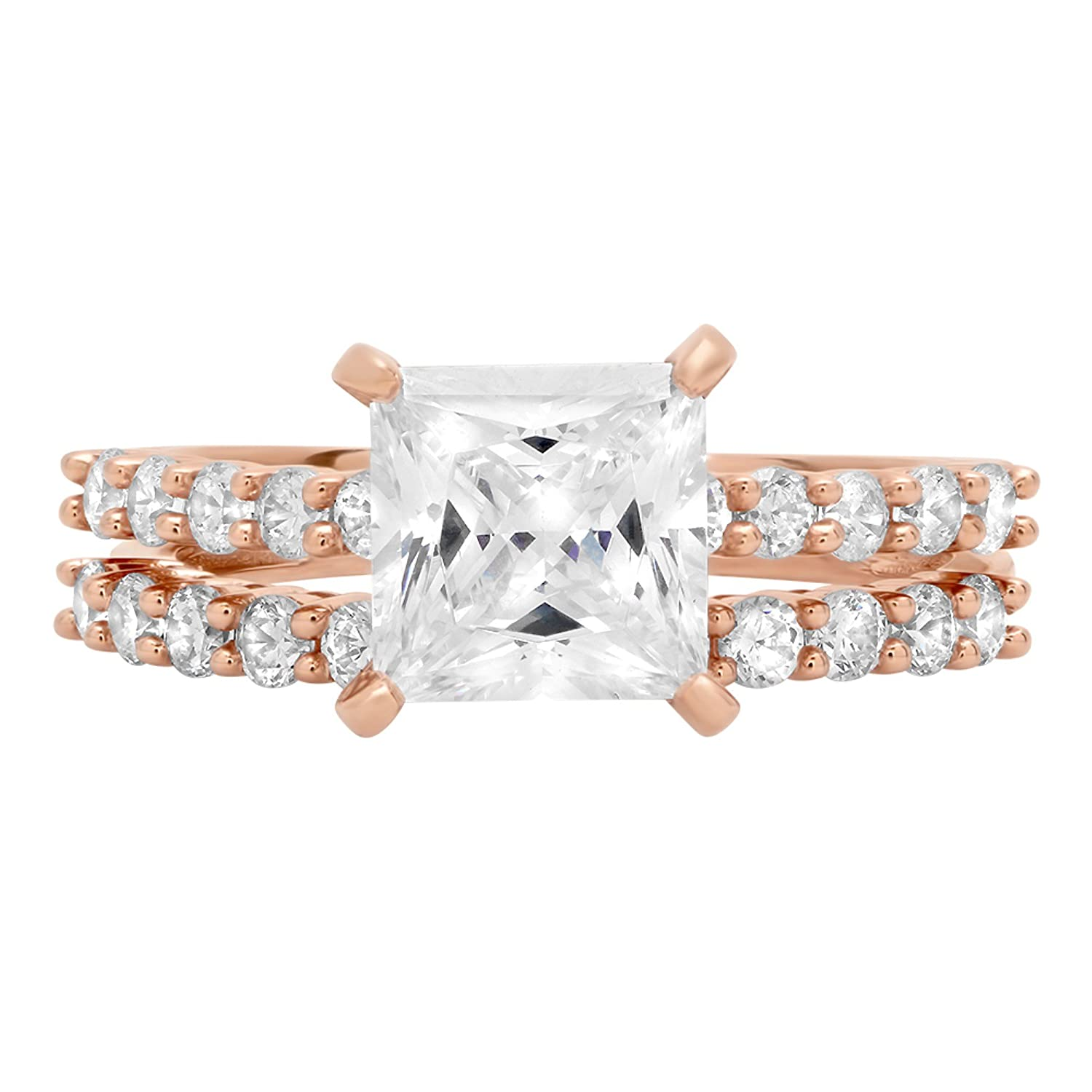14k Rose Gold 1.47cttw Classic Marquise Solitaire Moissanite Engagement Promise Ideal VVS1 6-Prong Ring Statement Anniversary Bridal Wedding by Clara Pucci