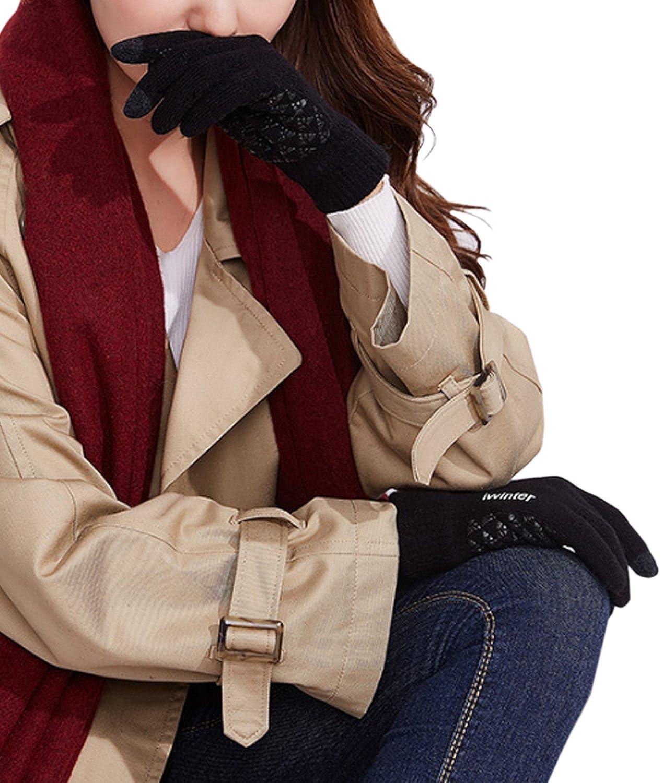 Bequemer Laden Guanti in Maglia Thinsulate Antiscivolo Touchscreen da Donna Guanti Caldi in Fodera di Lana