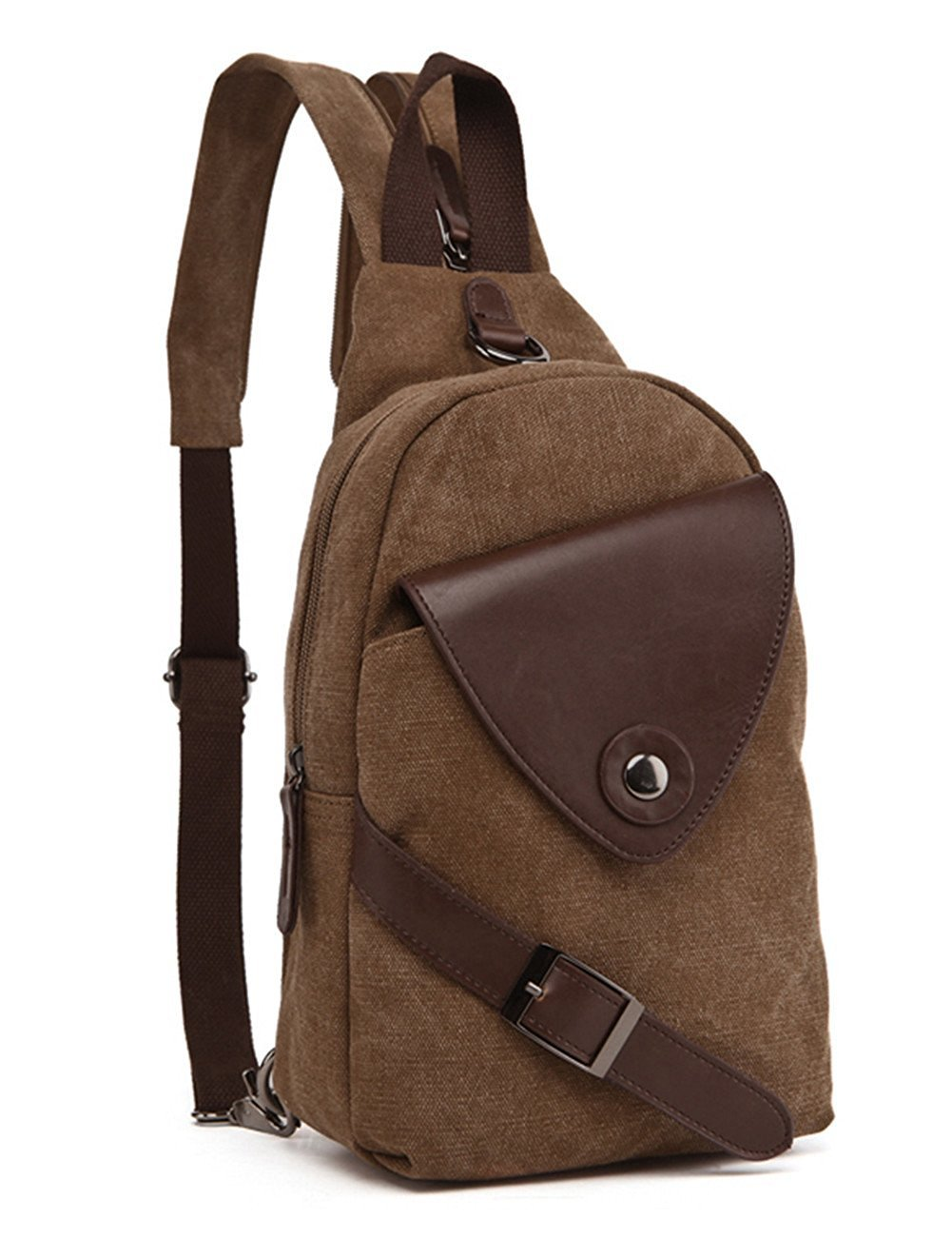 Berchirly Men Multifunctional Canvas Messenger Bag Small Purse Backpack