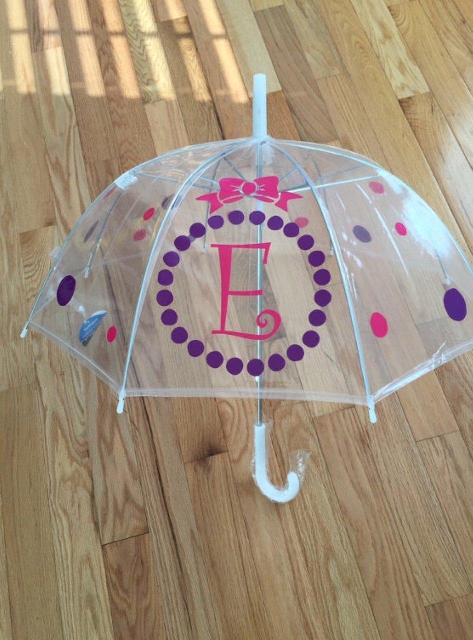 Childs Custom Umbrella Monogram, Initial