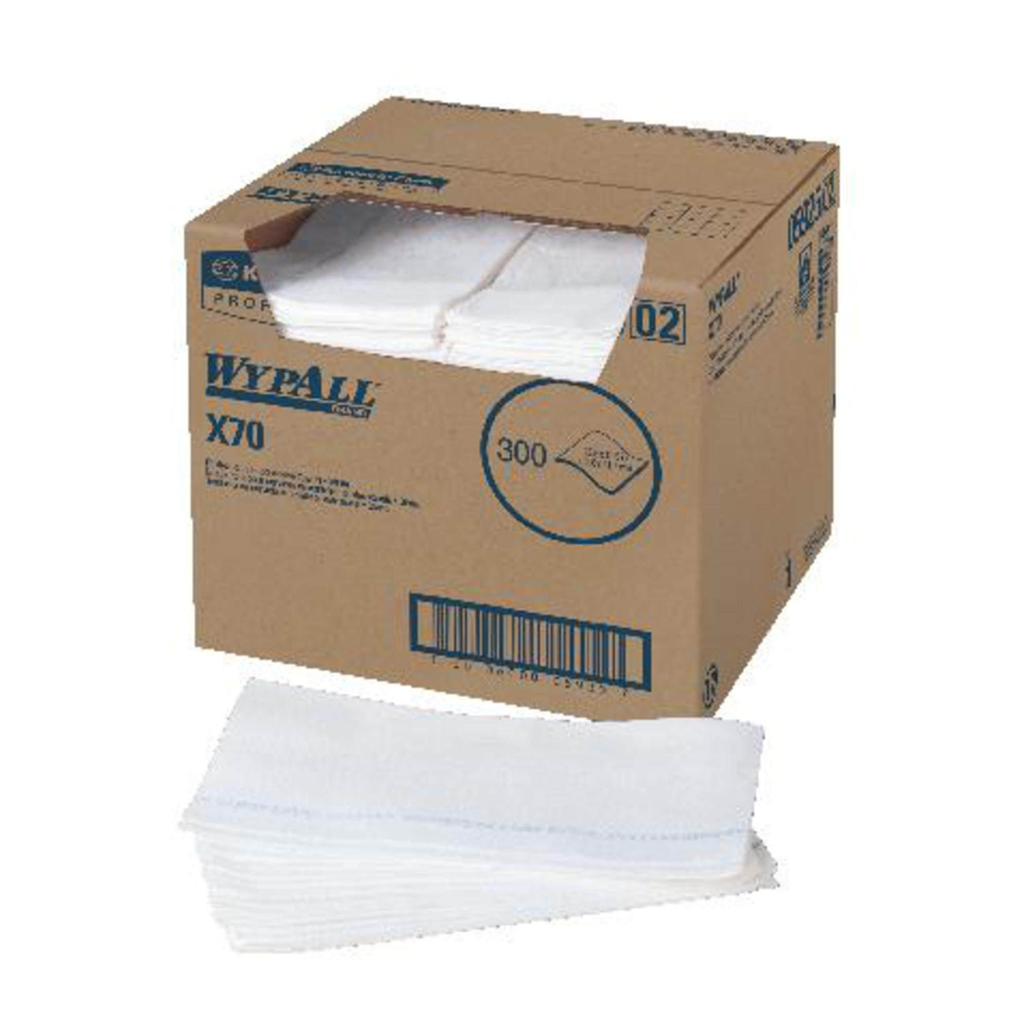 Kimberly-Clark 41016 Wypall X70 Manufactured Rag, White (Pack of 4 Sheet)
