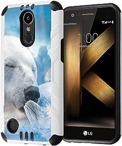 LG K20Plus / LG K20V Case, LG Harmony Case, LG Grace LTE Case, Capsule-Case Hybrid Dual Layer Slim Defender Armor Combat Case for LG K20 Plus / K20 V/Harmony/Grace- (Polar Bear)
