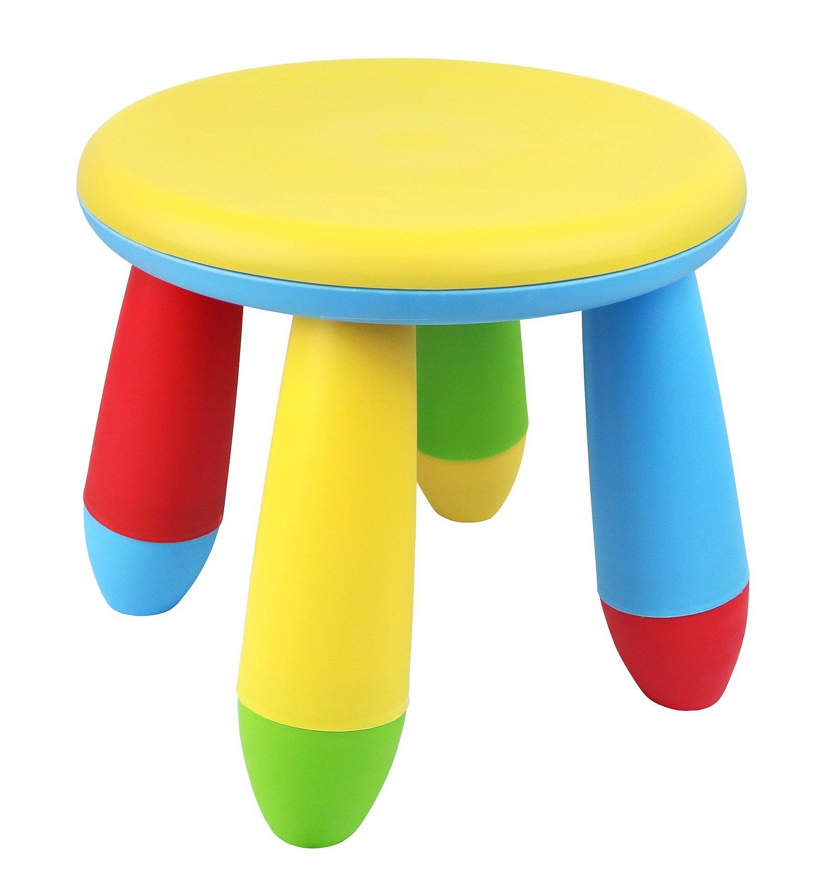 Galashield Plastic Kids Chair Stool 10'' (Yellow, 2 Pack)