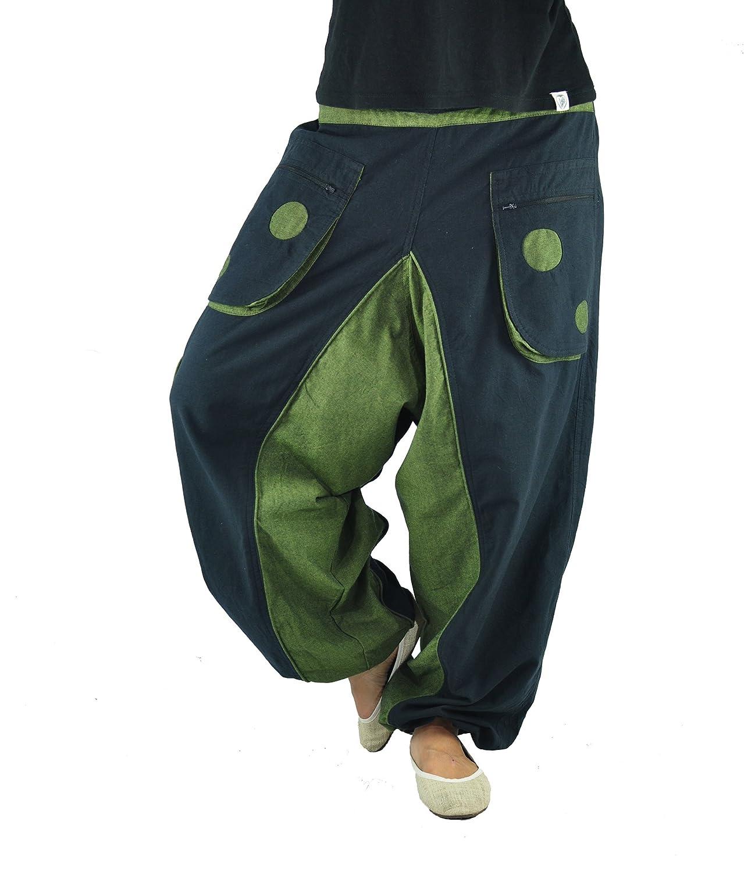 77f8d727ae Pantalon bouffant de haute qualité pour hommes et femmes (taille unique)  comme vêtement ethnique, pantalon hippie, pantalon teufeur de virblatt S -  L- ...
