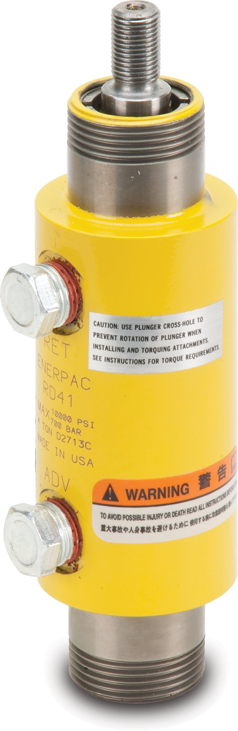 Enerpac RD-43 Double-Acting Precision Hydraulic Cylinder with 4 Ton Capacity, Double Port, 3.13'' Stroke Length