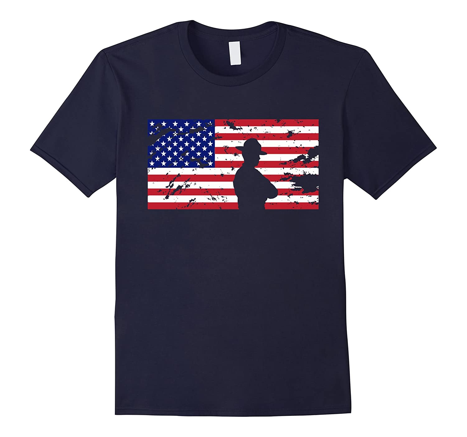 American Flag State Trooper T Shirt 2017 Gift-BN