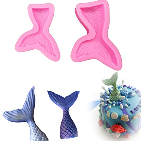 Mermaid Shape Silicone Fondant Cake Mold Sugarcraft Decorating Tools Mould Baking Accessories and Cake Decorating