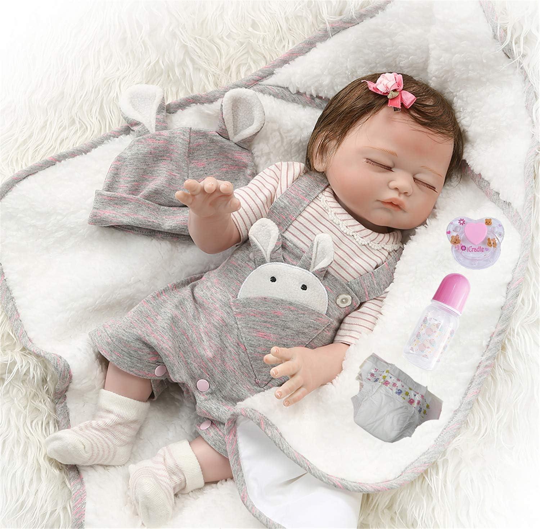 "Bath Reborn Baby Dolls Full Vinyl Silicone Lifelike Newborn Baby Girl Gifts 16 /"""