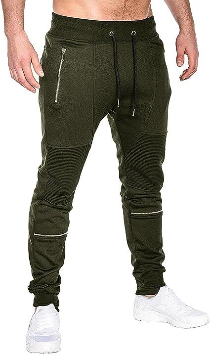 Men/'s Fleece Lined Track Pants Track Suit Pants Casual Winter Elastic Waist B