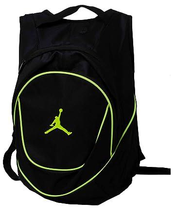 Amazon.com: Jordan Nike Air Jumpman Backpack Book Bag-Black/Green ...