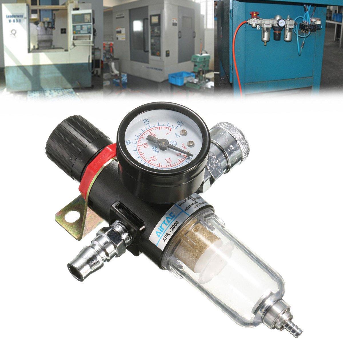 QOJA afr-2000 1/4'' air compressor filter water separator trap by QOJA (Image #2)