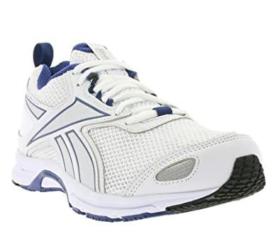 8e7fb002fee1b Reebok New Mens/Gents White/Blue Triplehall Lace Ups Trainers -  White/Blue/Silver - UK Sizes 6-12