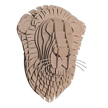 Grand en carton Safari image murale tête animal 3D Trophée de chasse ...