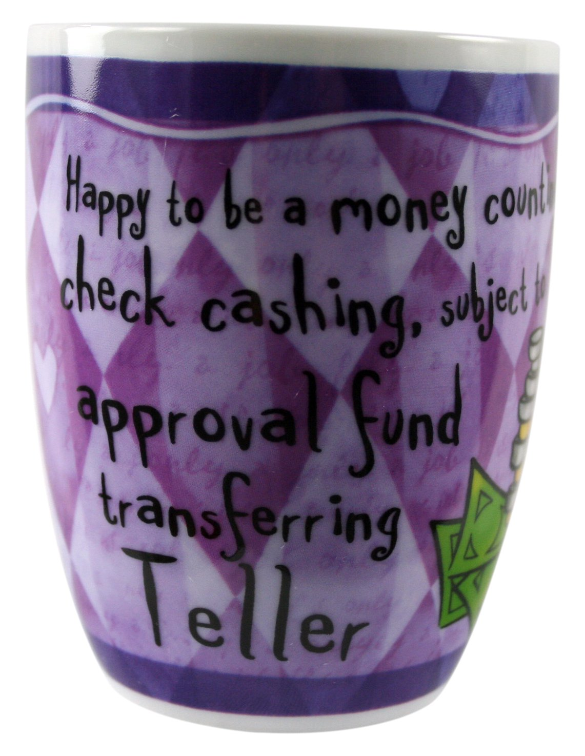 Occupational Mugs Teller Mug Lilac Purple//Dark Lavender