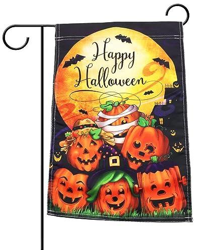 Happy Halloween Garden Flag Decorative Outdoors Yard Flag For Halloween  12.5 X 18 Holiday Flag Seasonal