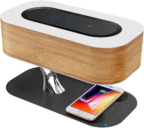 bureau contr/ôle tactile pour chambre /à coucher YOJINKE Lampe de chevet LED /à intensit/é variable avec charge sans fil Qi alimentation via USB bureau