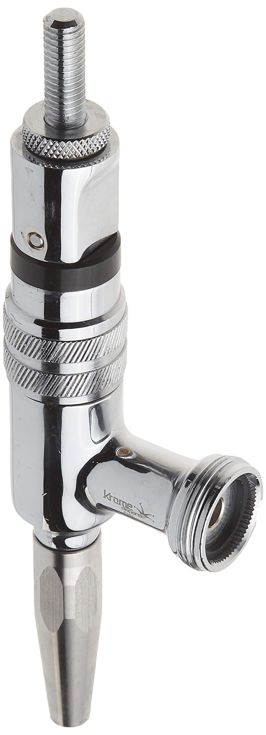 Krome Dispense C257 Stout Faucet, Chrome Plated Brass, 3/8''-16'' UNC Thread, 60 Teeth Connection