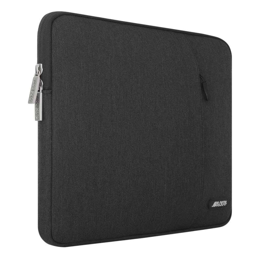 MOSISO Laptop Sleeve Bag Compatible 13-13.3 Inch MacBook Pro Notebook Computer Vertical Style Water Repellent Polyester Protective Case Cover with Pocket Black Marble MacBook Air