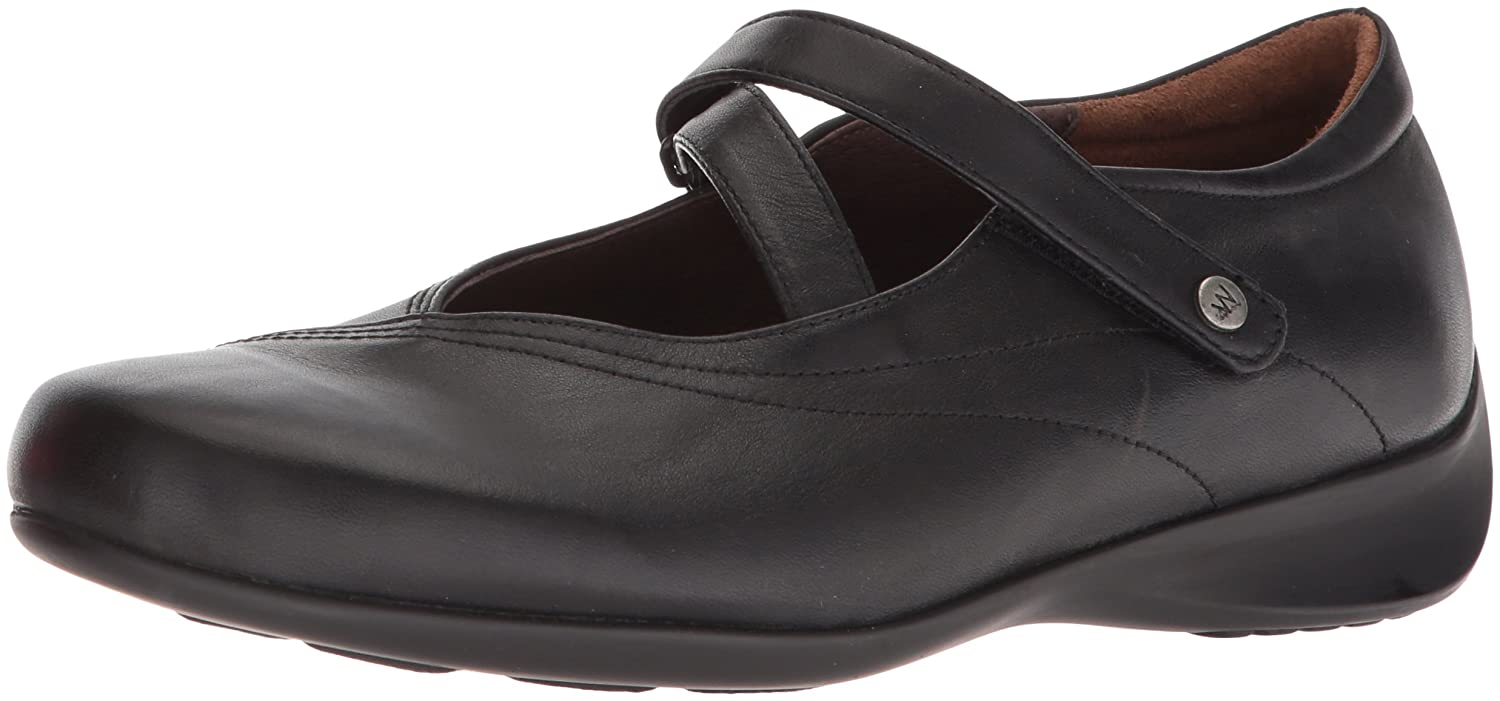 Wolky Comfort Mary Janes Silky B002E16Q4M 40 M EU|Black Smooth Leather