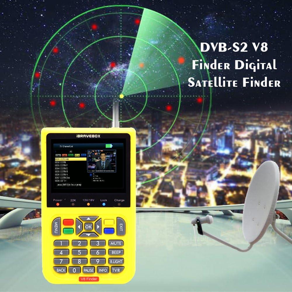 Ajcoflt Buscador de satélite digital V8 Finder con pantalla LCD digital de 3,5 pulgadas
