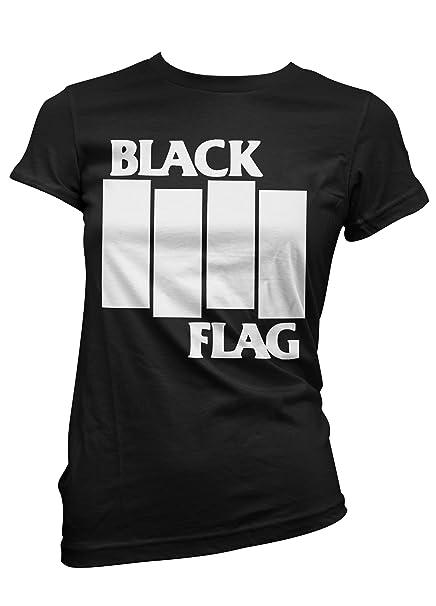 Camiseta Mujer Black Flag - camiseta punk rock 100% algodon LaMAGLIERIA: Amazon.es: Ropa y accesorios