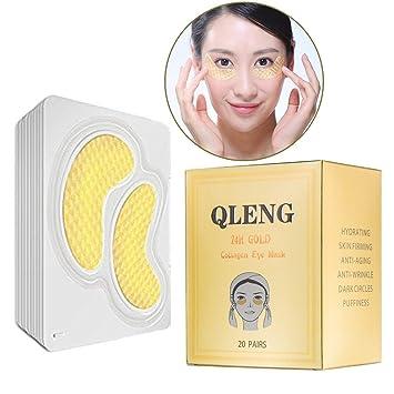 Amazon.com: Máscara de ojos en polvo de oro de 24 quilates ...