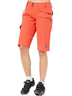 Race Face Pantaloncini MTB Donna Khyber Rosso (XS, Rosso)
