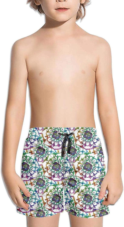 supiocv Mandala Pattern Abstract Festive Colorful Childrens Board Shorts RunningCasual Sportcamo Shorts Beachshorts