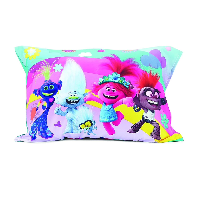DreamWorks Trolls World Tour Lotta Love 4Piece Toddler Bedding Set Pink