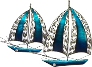 """The Creative Critters Sailboat Wall Decor - Perfect for That Special Occasion Gift - 3D Metal Wall Art - Hand-Painted -23.5"""" x 17""""- Home Decoration Nautical Design"""